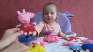 Свинка Пеппа Хелло Китти Игрушки из фетра для Дашеньки ... Toys made of felt for Dasha