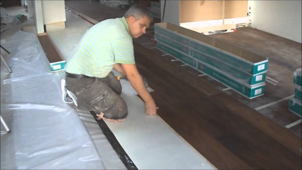 Floating Engineered Hardwood Floor And Laminate Installation How To  Mryoucandoityourself   YouTube