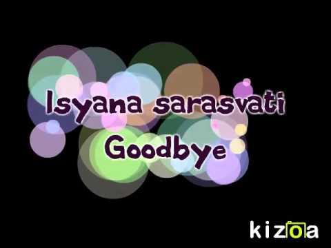 Isyana Sarasvati goodbye lirik