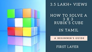 3*3 Rubik's Cube Solution in Tamil; Easiest; HD (Part 1 of 3); How to solve a 3x3 Cube in Tamil