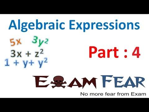 Maths Algebraic Expressions part 4 (Coefficients) CBSE Class 7  Mathematics VII
