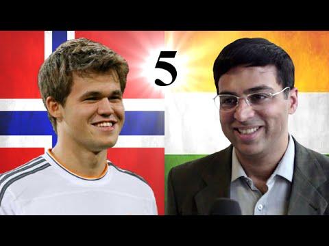 Viswanathan Anand vs Magnus Carlsen   2014 World Chess Championship   Game 5