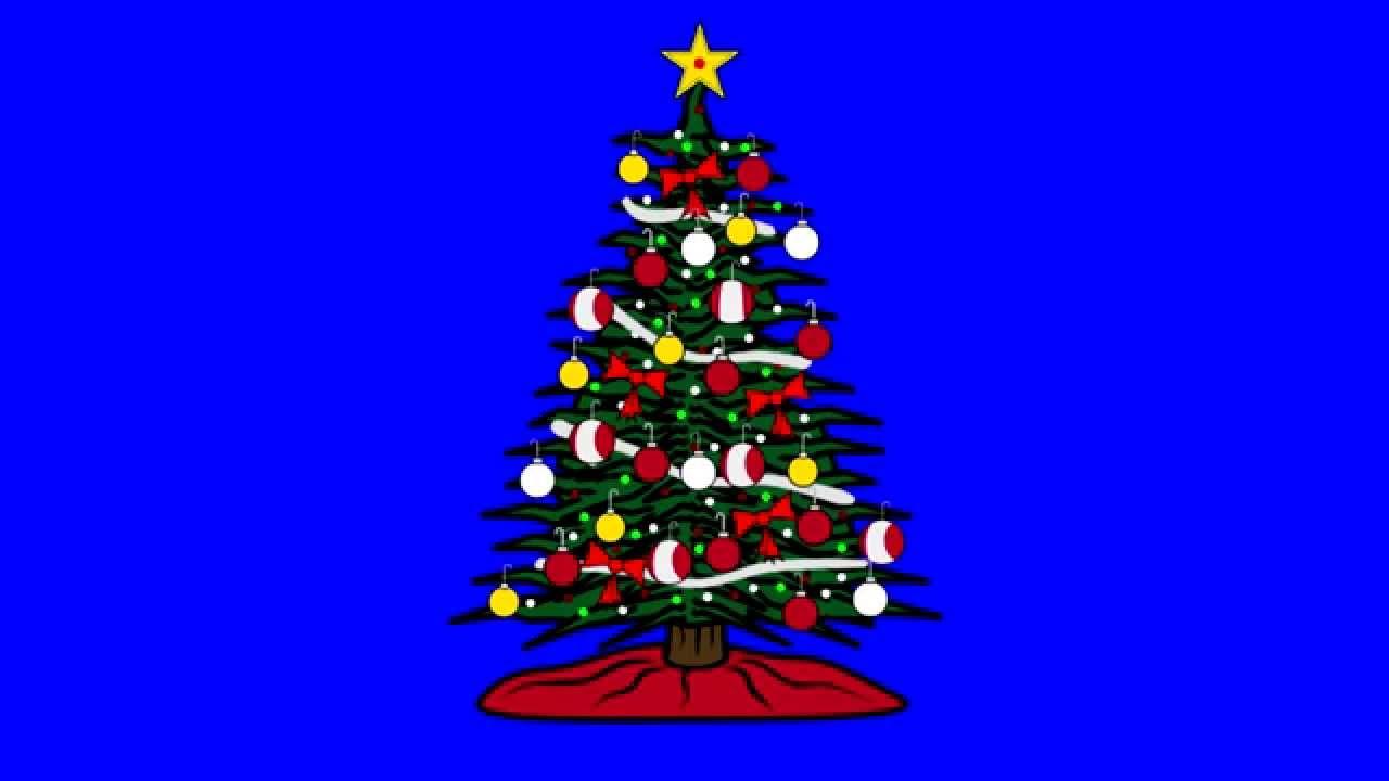 Animated Christmas Tree Blue Screen Youtube