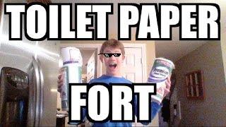 Walmart Toilet Paper Fort CAUGHT?! (baby stroller fort instead?)
