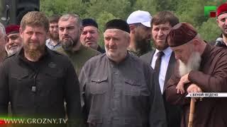 Рамзан Кадыров принял участие в церемонии открытия моста в Ножай-Юртовском районе