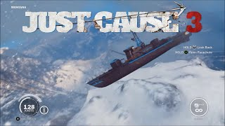 Just Cause 3  Crashing all 12 Boats off the highest Mountain