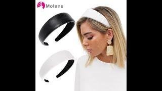 Женский ободок из искусственной кожи molans простой шириной 4 см модные широкие обручи для волос
