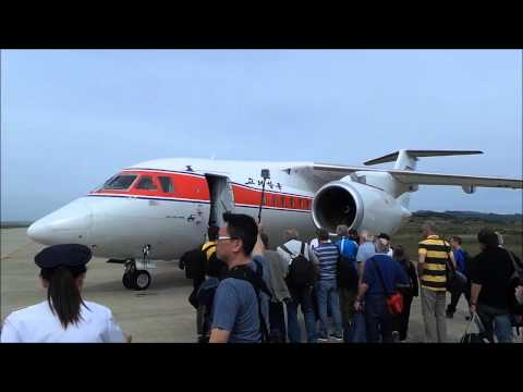 Flying Air Koryo's oldest and latest aircraft  IL-18 and An-