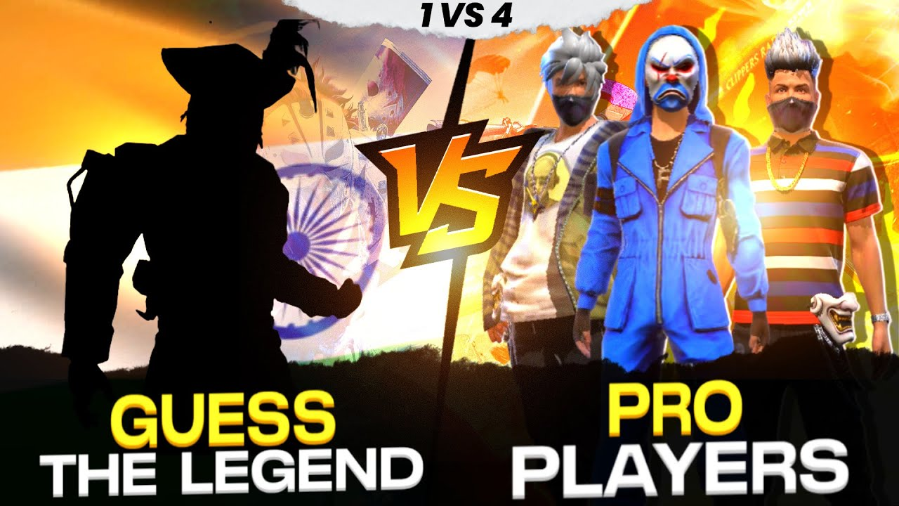 Unknown Legend 😱 Vs Pro Players || Is he Inspired from Bnl ? || 1 vs 4 Gameplay - Garena Free Fire