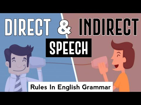 Direct Indirect Speech Rules in English Grammar