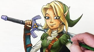 Character Re-Design: FEMALE LINK (from Zelda)