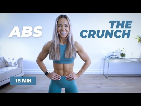THE CRUNCH 15 Min ABS Workout / No Equipment - Caroline Girvan