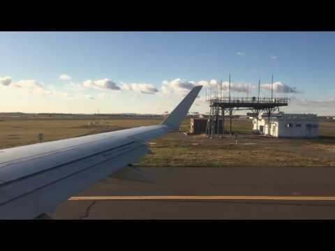 Air Canada - Pushback, Taxi, and Take off from Logan Airport in Boston