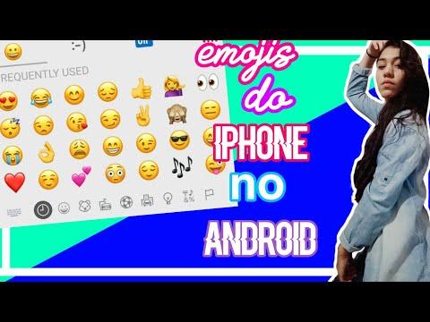 Como Ter Emojis Do IPHONE No ANDROID (moto G)