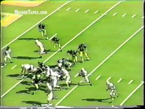 Nebraska freshman Tommie Frazier rushes for 3 touchdowns vs Missouri in 1992