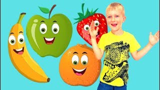 Tawaki kids learn the names of fruits and play with toys\Pretend play