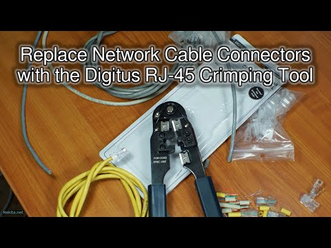 Replace Network Cable Connectors with the Digitus RJ-45 Crimping Tool