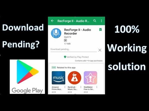How to Fix Download Pending in Google Play Store?| Hindi| The Techtuber  Mohit| 2018