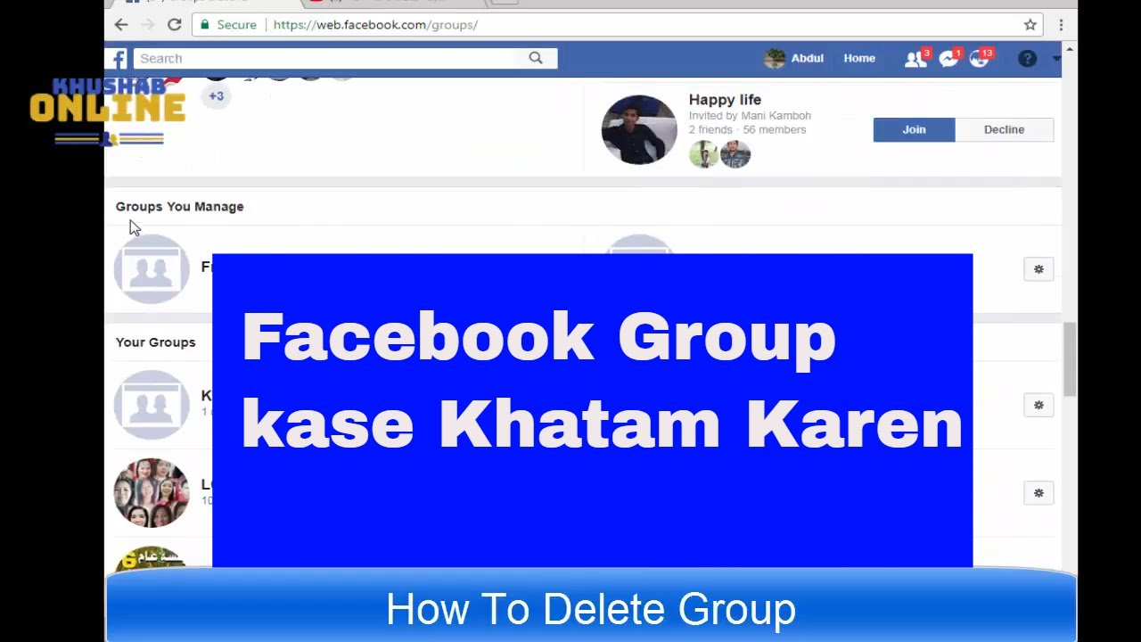 How to delete facebook group permanently facebook group kase how to delete facebook group permanently facebook group kase delete karen urdu hindi ccuart Choice Image