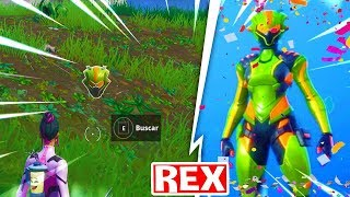 CASCO FASE REX SKIN SINGULARITY [HIDDEN LOCATION] Fortnite