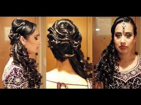 indian women hair style photos hairstyles for indian for wedding with make up 7387 | hqdefault
