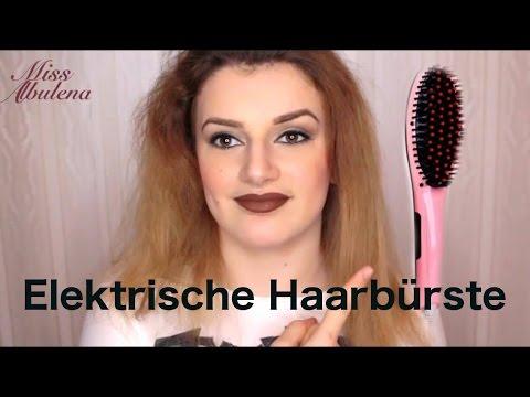 Elektrische Haarbürste Zum Haare Glätten Youtube