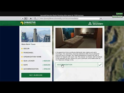 Gta5 Online Office Accommodation Room showcase (have women been in my room!?)