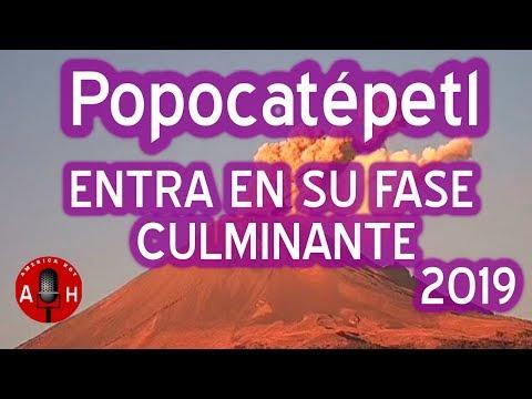 El volcan popocatepetl en Mexico hace erupcion Y aumenta la alarma a fase 3 para evacuaciones