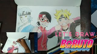 Speed Drawing Boruto Mitsuki Dan Sarada From Youtube The Fastest