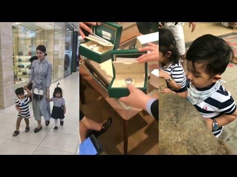 OMG! Terkejut tengok harga jam tangan Eina Azman & suami belikan untuk anak kembar mereka