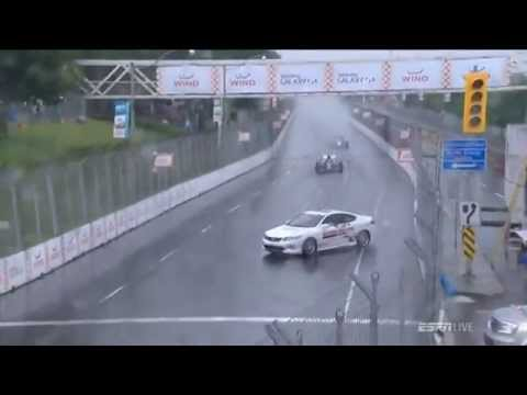 Indycar 2014 Safety Car Spin At Toronto
