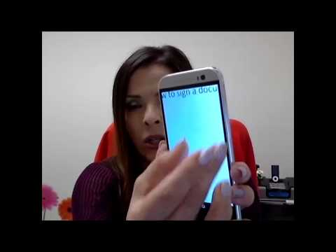 Sign a PDF Document on your smartphone