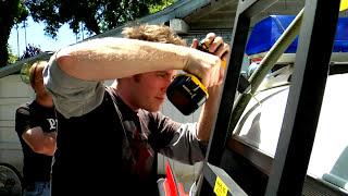 Ecto-1 (Ghostbusters car) Maiden Voyage to meet Dan Aykroyd (2010)