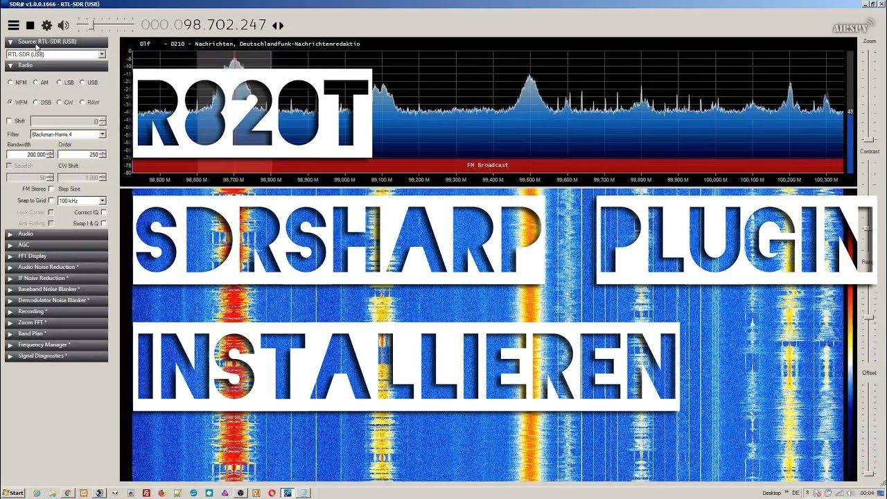 NooElec R820T2 Plugin für SDRsharp Installation und Betrieb