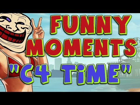 """GTA 5 Online Multiplayer """"C4 Trolling"""" (Trolling Friends, C4 Rage, Funny Moments, YOU MAD) - 동영상"""