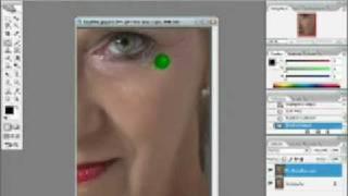 دروس الفوتوشوب ازالة تجاعيد الوجه