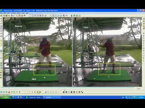 Before and after swing analysis - Victor Tay