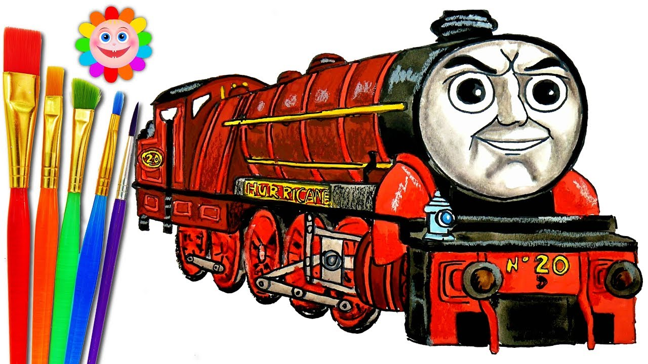 How To Draw Thomas And Friends Coloring Pages Hurricane Train Video