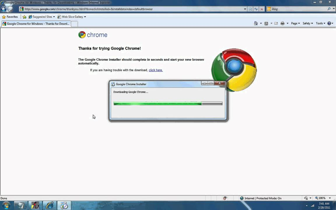 Installing Google Chrome On Windows 7.avi
