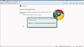 Installing Google Chrome on Windows 7.avi