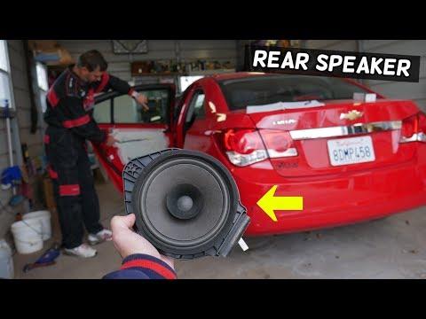 CHEVROLET CRUZE REAR DOOR SPEAKER REMOVAL REPLACEMENT. REAR SPEAKER NOT WORKING ON CHEVY CRUZE