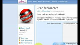 Como mandar um depoimento para um amigo no Orkut (Video-Aula.com)