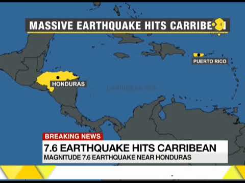 7.6 earthquake hits Carribean