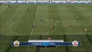 FIFA 12 Gameplay -  Barcelona vs Arsenal