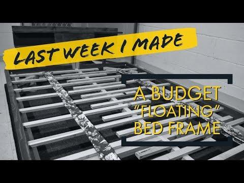 """DIY budget """"floating"""" bed frame"""