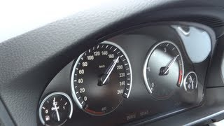 2012 BMW F10 520d - Autobahn -Test (1080p FULL HD)