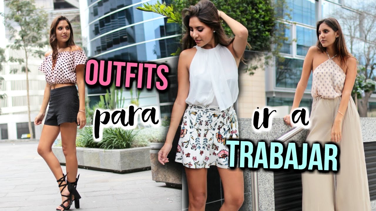 ¡4 OUTFITS PARA IR A TRABAJAR! | Valeria Basurco
