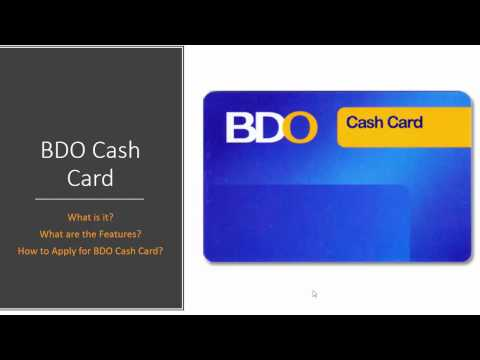 How to Apply for BDO Cash Card   2017