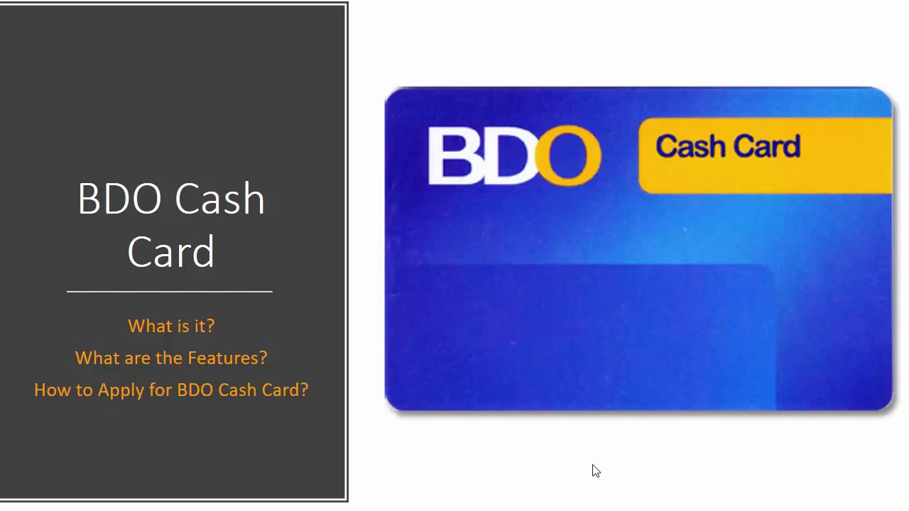 How to Apply for BDO Cash Card 2017 - YouTube