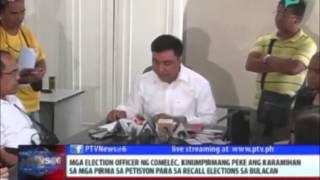 Karamihan sa pirma sa petisyon para sa recall elections sa Bulacan, peke --COMELEC